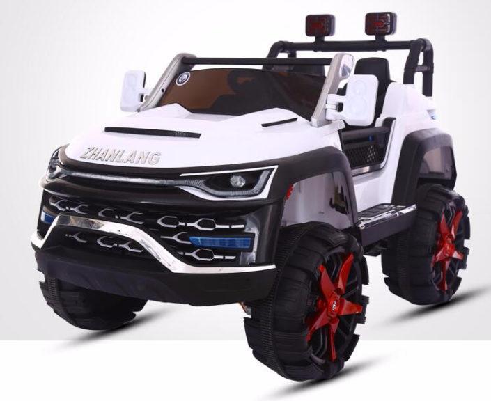 Άσπρο ηλεκτικό παιδικό αυτοκίνητο mini moto 4x4