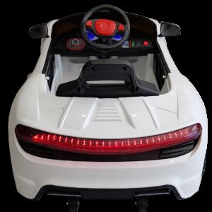 Πίσω μέρος παιδικού ηλεκτρικού αυτοκινήτου mini moto Porsche