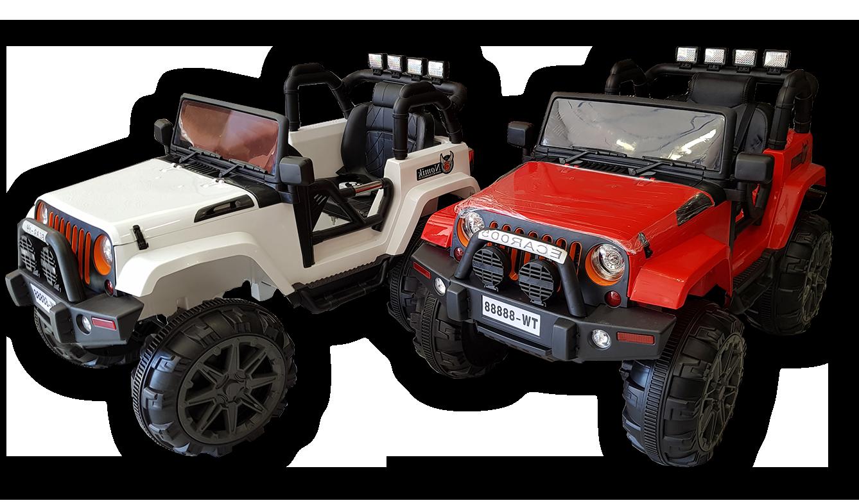 Ηλεκτρικό jeep 4x4 mini moto παιδικό για παιδιά άσπρο και κόκκινο 2