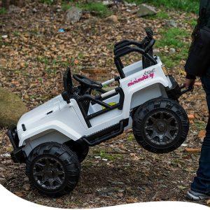 Ηλεκτρικό mini moto παιδικό αυτοκίνητο jeep 3 με χειρολαβή για εύκολη και γρήγηρη μεταφορά minimoto