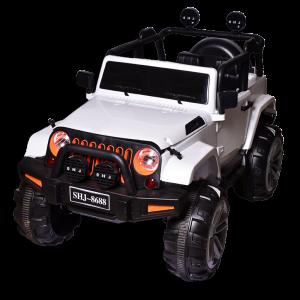 Ηλεκτροκίνητο jeep άσπρο 4x4 τηλεκατευθυνόμενο