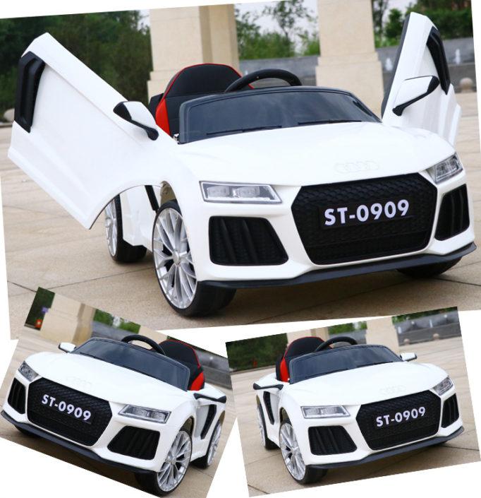 Λευκό παιδικό ηλεκτρικό αυτοκίνητο Audi