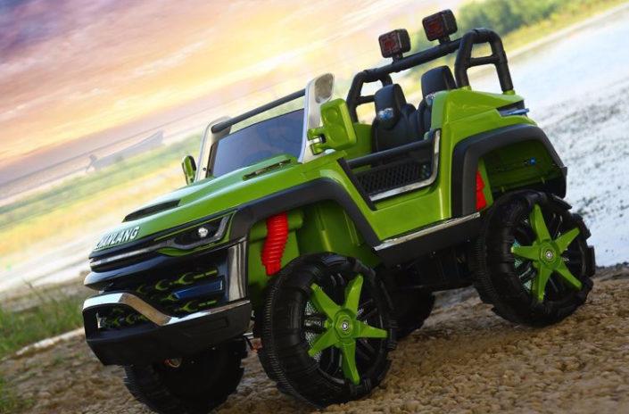Πράσινο ηλεκτικό παιδικό αυτοκίνητο mini moto 4x4