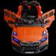 Μπροστινό μέρος ηλεκτρικού παιδικού jeep BMW πορτοκαλί